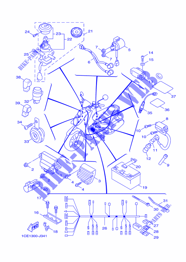 Yamaha Bike Diagram - Wiring Diagrams Dash
