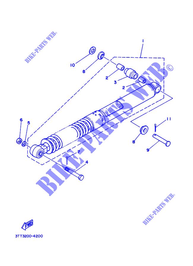 yamaha moto 175 2012 dt dt175 dt175 rear shock absorber