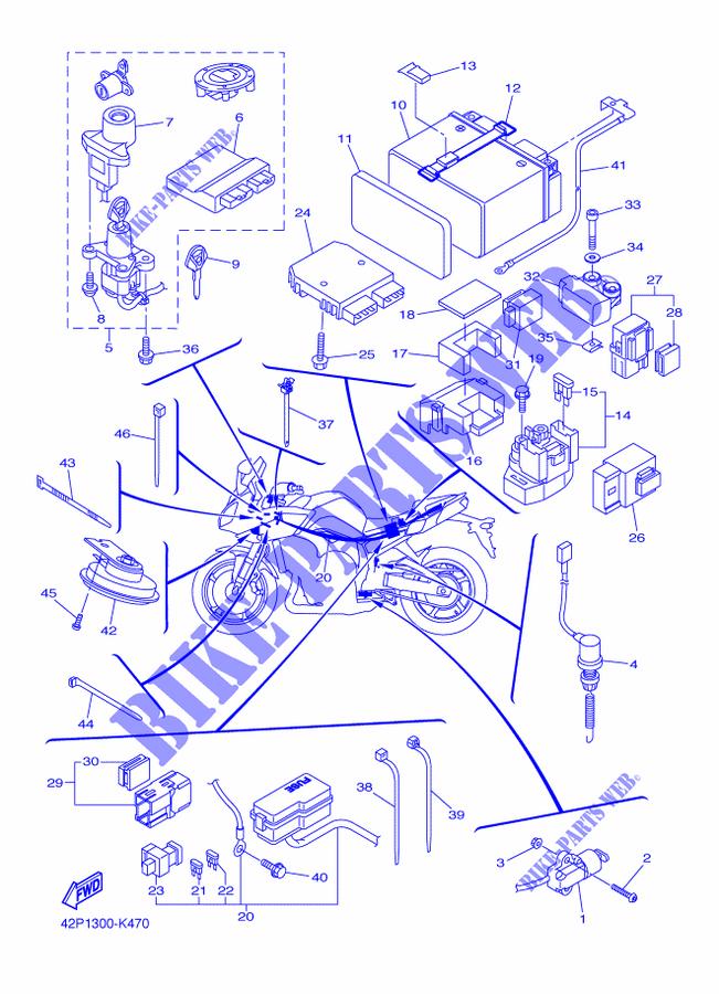 electrical 2 for yamaha fz8s 2012 yamaha genuine spare parts Yamaha Golf Cart Wiring Diagram