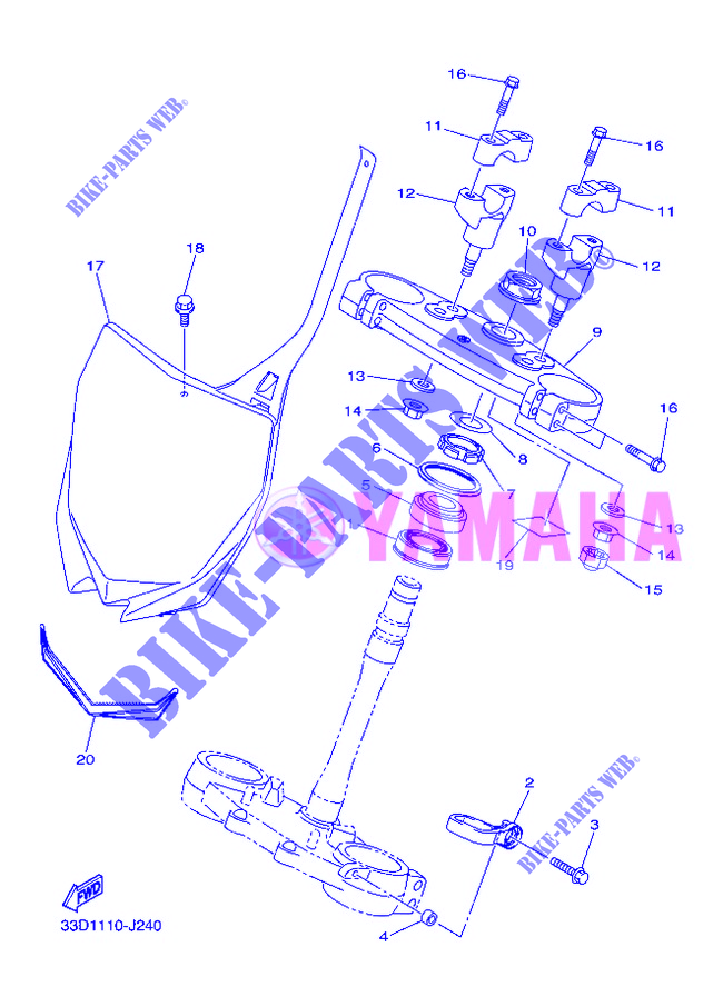 STEERING for Yamaha YZ450F 2012