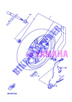 FRONT WHEEL for Yamaha VP250 2013