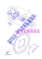 REAR BRAKE CALIPER for Yamaha VP250 2013