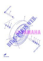 FRONT WHEEL for Yamaha DIVERSION 600 F 2013