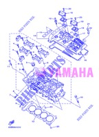 CYLINDER HEAD  for Yamaha DIVERSION 600 F ABS 2013