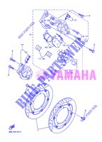 FRONT BRAKE CALIPER for Yamaha DIVERSION 600 F ABS 2013
