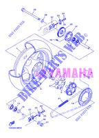 REAR WHEEL for Yamaha DIVERSION 600 F ABS 2013