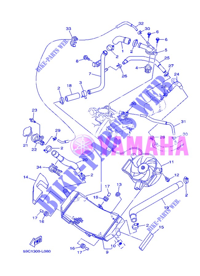 RADIATOR / HOSES for Yamaha XP500 2013