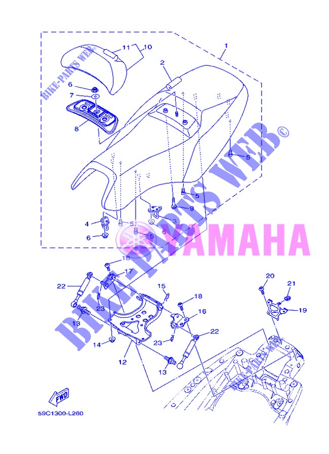 SEAT for Yamaha XP500 2013
