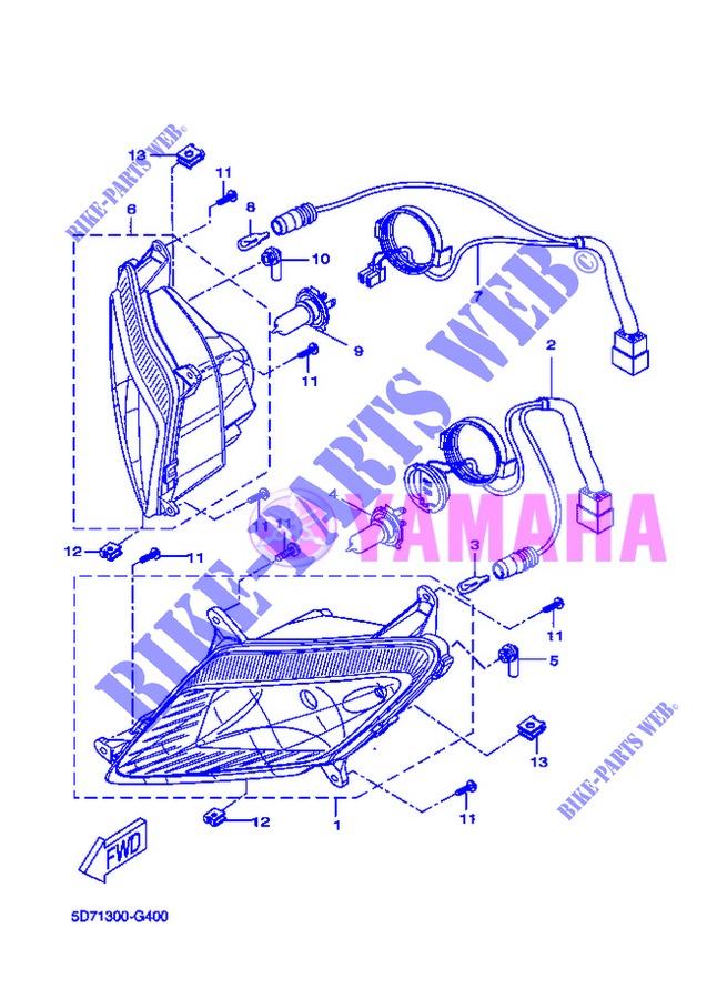 Headlight Yamaha YZF 125/R