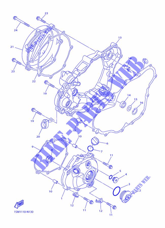Cover Engine 1 For Yamaha Yz250f 2015 Yamaha Genuine Spare Parts Catalogue