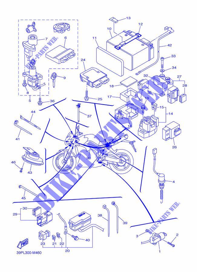electrical 2 for yamaha fz8 800 2015 yamaha genuine spare parts Yamaha Golf Cart Wiring Diagram