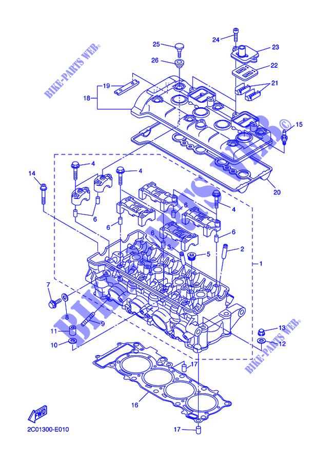 [SCHEMATICS_43NM]  CYLINDER for Yamaha YZF-R6 2015 # YAMAHA - Genuine Spare Parts Catalogue | 2015 Moto Yamaha R6 Engine Diagram |  | YAMAHA - Genuine Spare Parts Catalogue