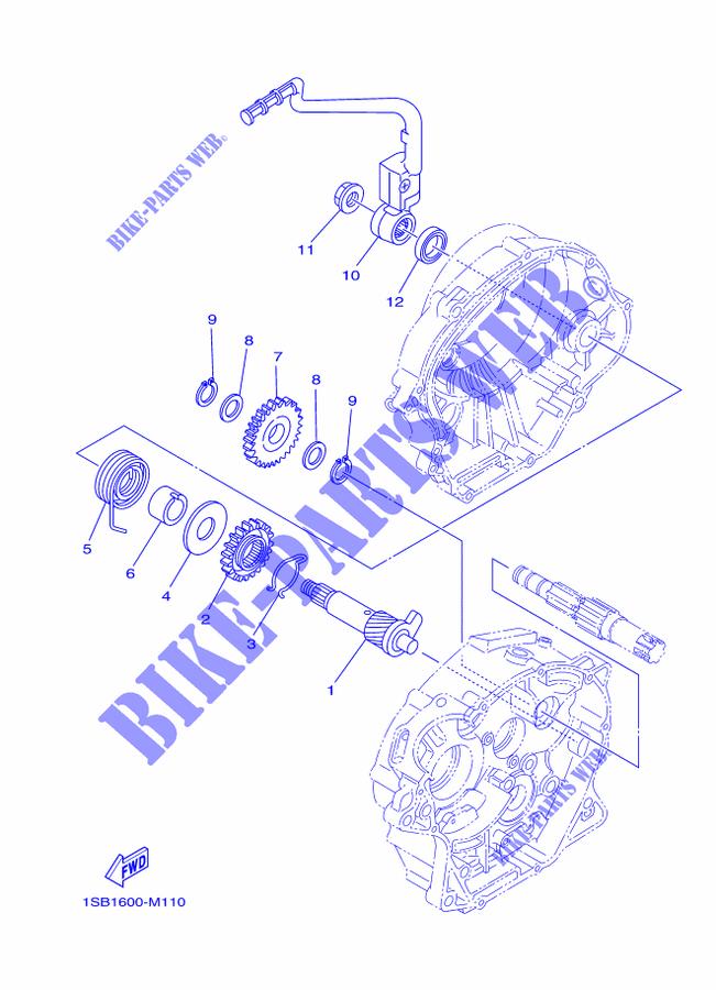 Yamaha Moto 125 2017 Xtz Xtz125e Starter Motor: Yamaha 1600 Engine Diagram At Sewuka.co
