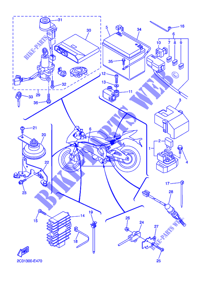 2007 Yamaha R6 Parts Diagram
