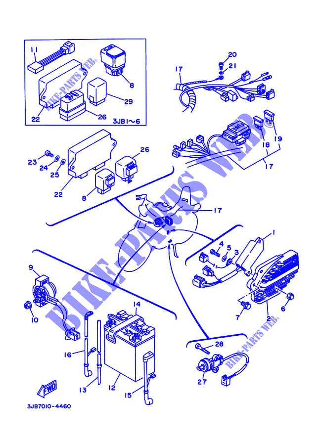 Wiring Diagram Yamaha Virago 400 - Technical Diagrams on