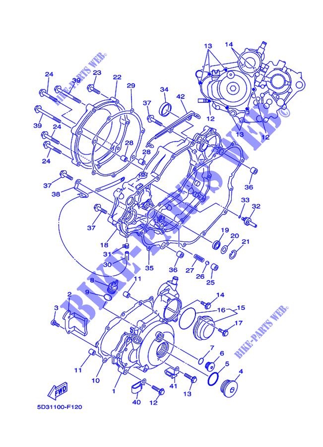 COVER ENGINE 1 for Yamaha YFZ450 2007 # YAMAHA - Genuine