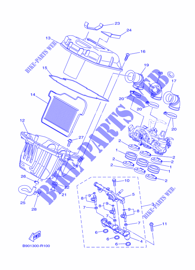 Yamaha Motorcycle Schematic