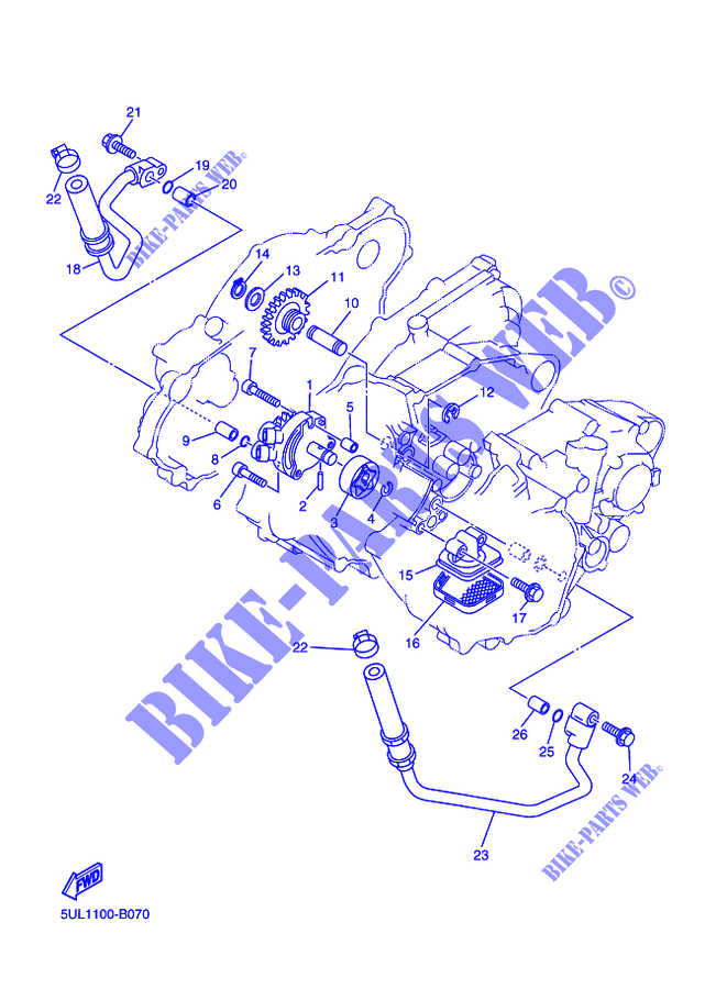 Oil Pump Wr250f Wr250f Wrf 2005 250 Moto Yamaha Motorcycle Yamaha