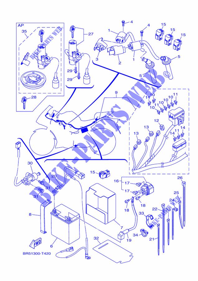 Yamaha 250 Enticer Wiring Diagram