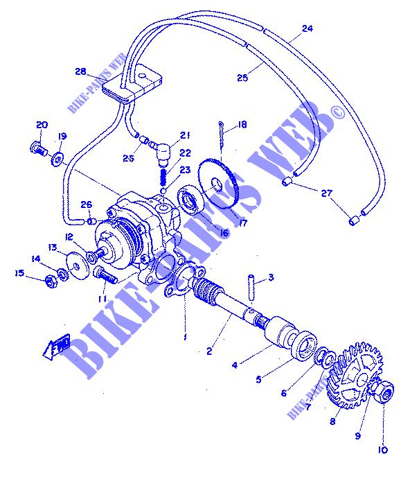 OIL PUMP for Yamaha RD 350 1973 # YAMAHA - Genuine Spare Parts Catalogue