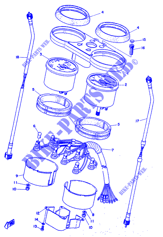 SPEEDOMETER for Yamaha RD 350 1973 # YAMAHA - Genuine Spare Parts