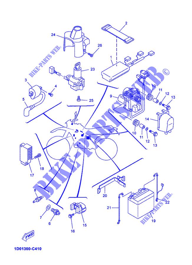 electrical 1 dt125x dtx 2005 125 moto yamaha motorcycle yamaha rh bike parts yam com Yamaha Banshee Wiring-Diagram Yamaha Banshee Wiring-Diagram