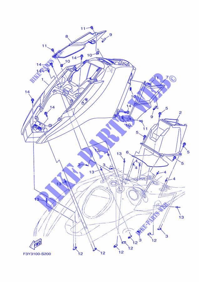 yamaha waverunner 1050 2018 ex ex1050b-t ex1050b-t engine hatch 1