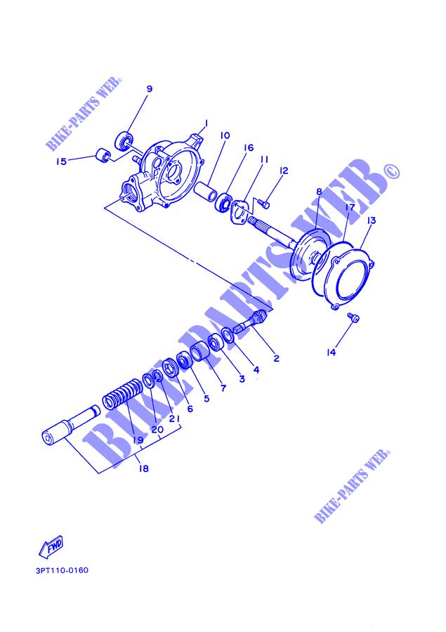 yamaha moto 50 2000 pw pw50 pw50 final drive shaft / gear coupling