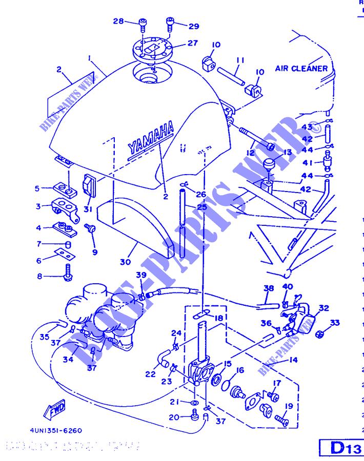 Clutch Cable Yamaha TRX 850 4UN1 1996