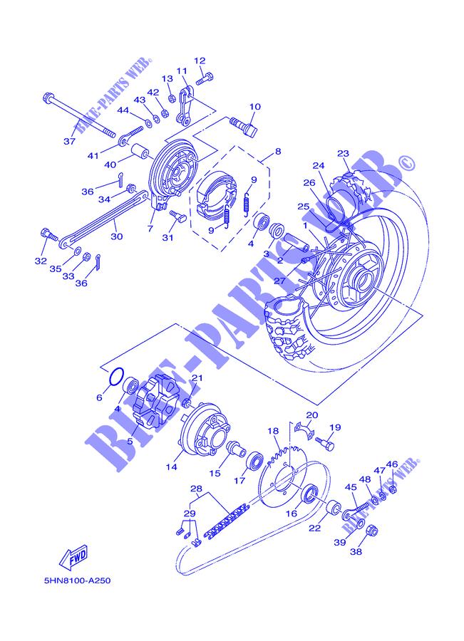 Yamaha 90387-207G3-00 Collar; 90387207G300 Made by Yamaha