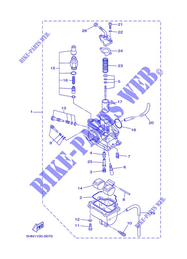 Carburetor For Yamaha Ttr90 2003 Yamaha Genuine Spare Parts Catalogue