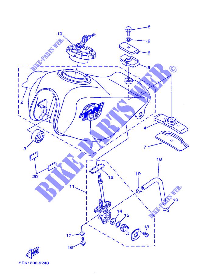 Fuel Tank Tw125 Tw 1999 125 Moto Yamaha Motorcycle Yamaha