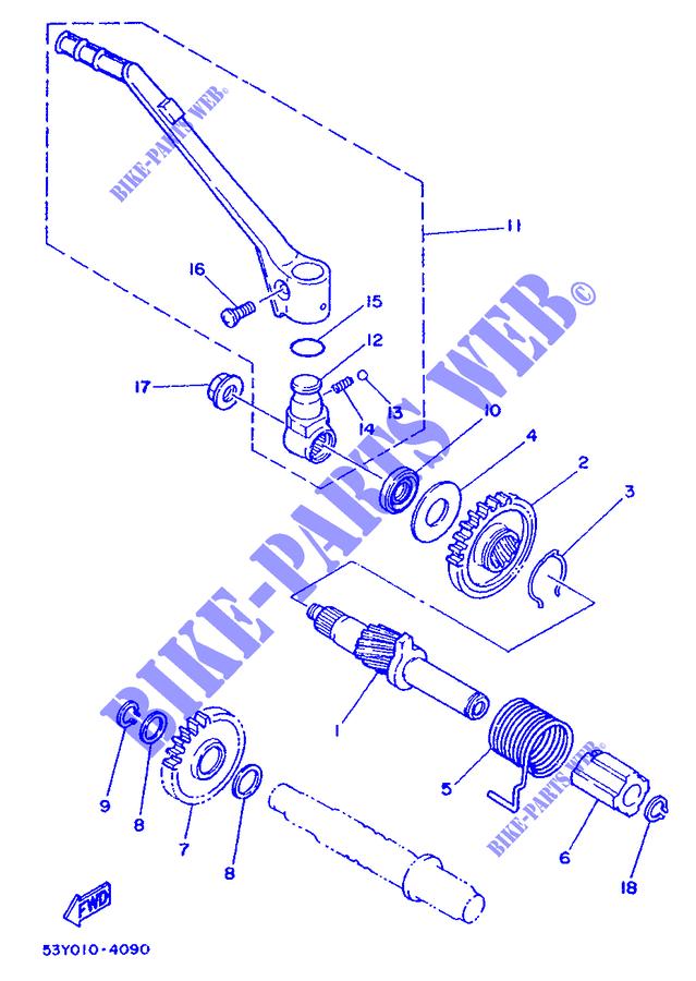 yamaha moto 250 1988 ty ty250s ty250s starter motor