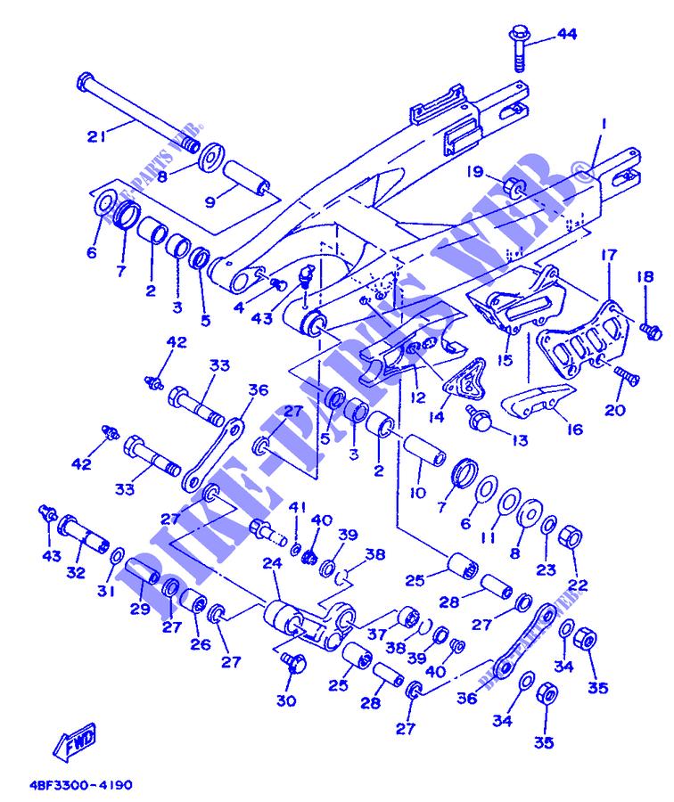 Swingarm For Yamaha Wr200 1994
