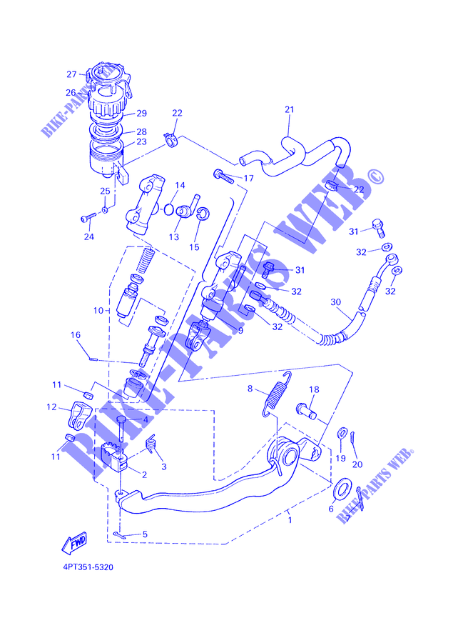 Yamaha 47X258940000 Master Cylinder Reservoir Tank