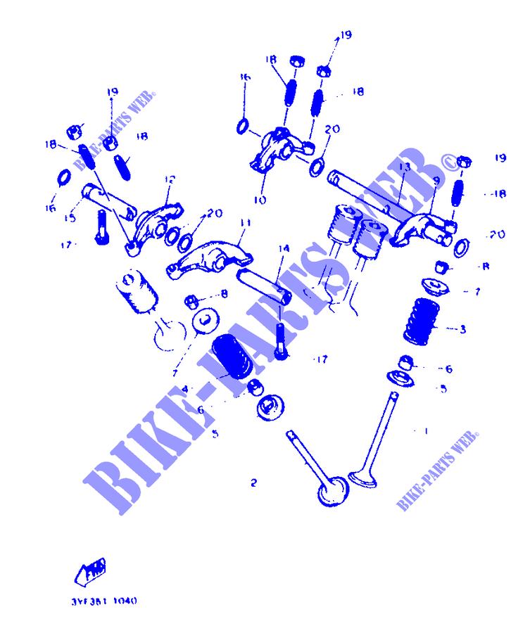 Yamaha 4G0-12118-00-00 COTTER,VALVE; 4G0121180000