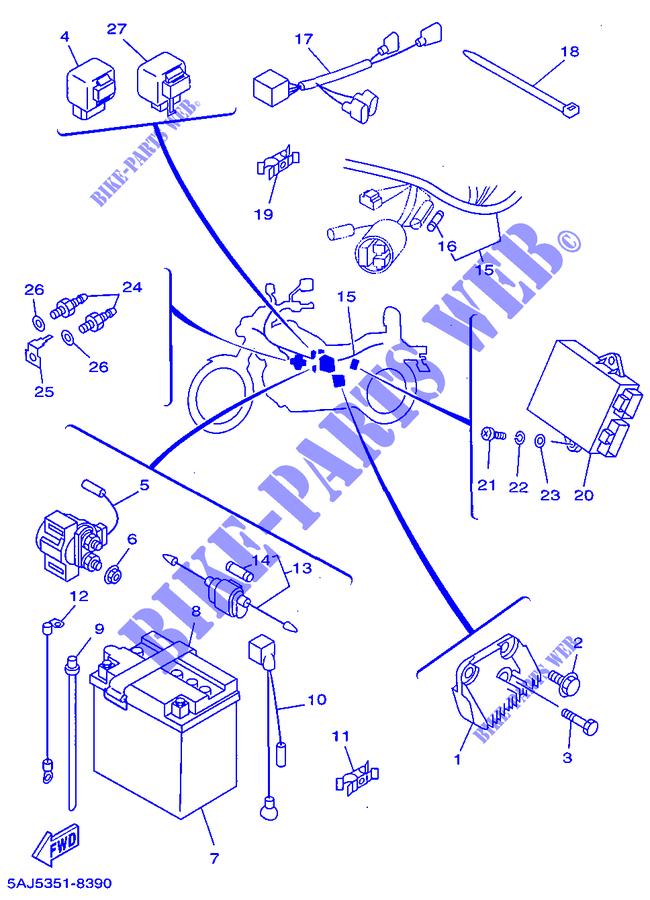 125 CC Indicator Relay Yamaha XV 125 Virago  1998