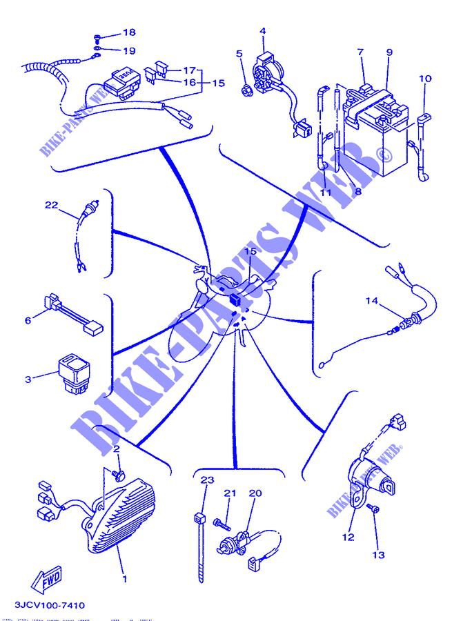 1993 Yamaha Xv535 Wiring Schematic Wiring Diagrams Schematics