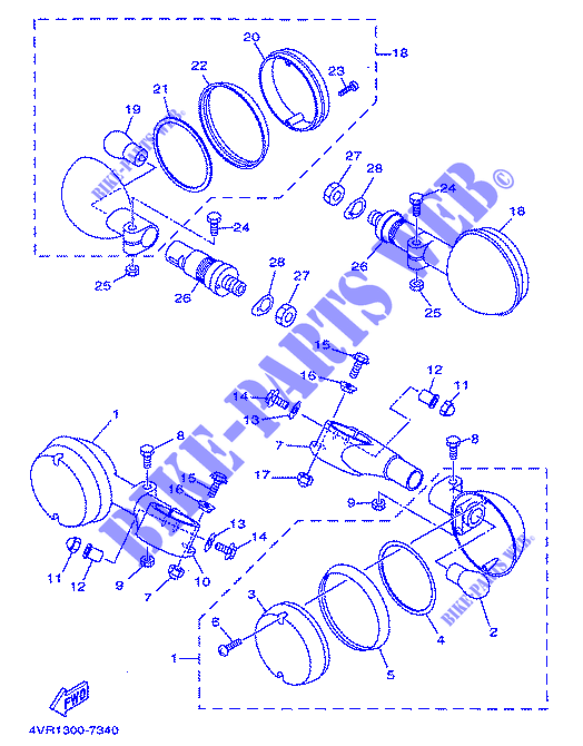 42X-83312-09-00 42X-83312-00-00 FLASHER; 42X833120900 Yamaha 42X-83312-09-00 LENS