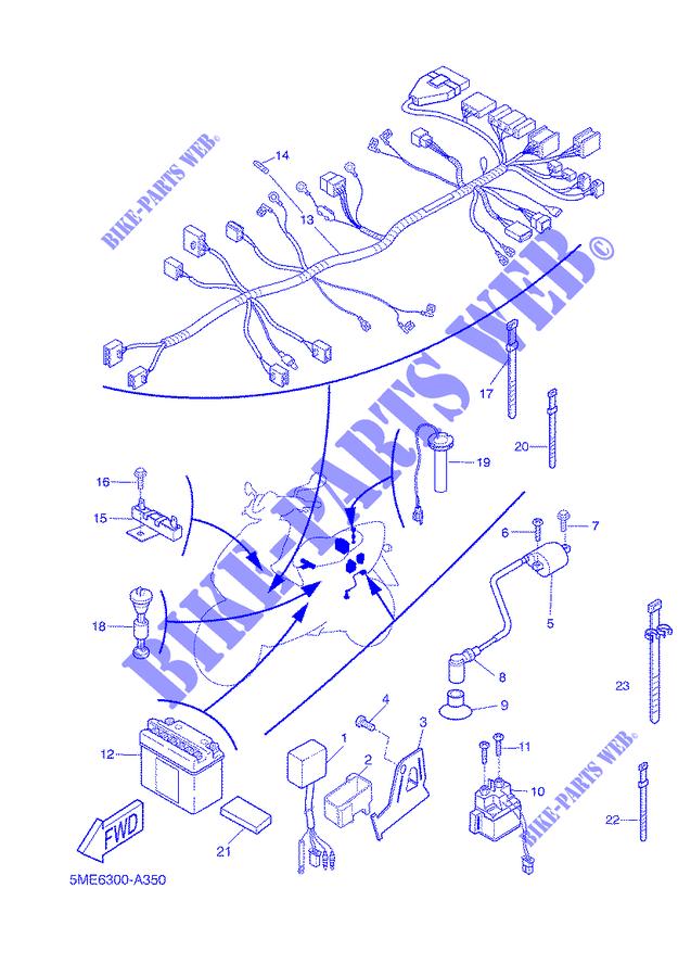 Schaltplan Yamaha Aerox