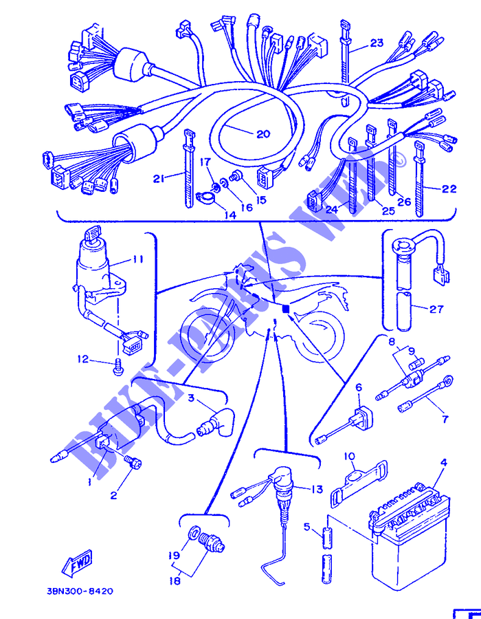 electrical 1 for yamaha dt200r 1988 yamaha genuine spare lowe wiring diagram yamaha dt200r wiring diagram #15