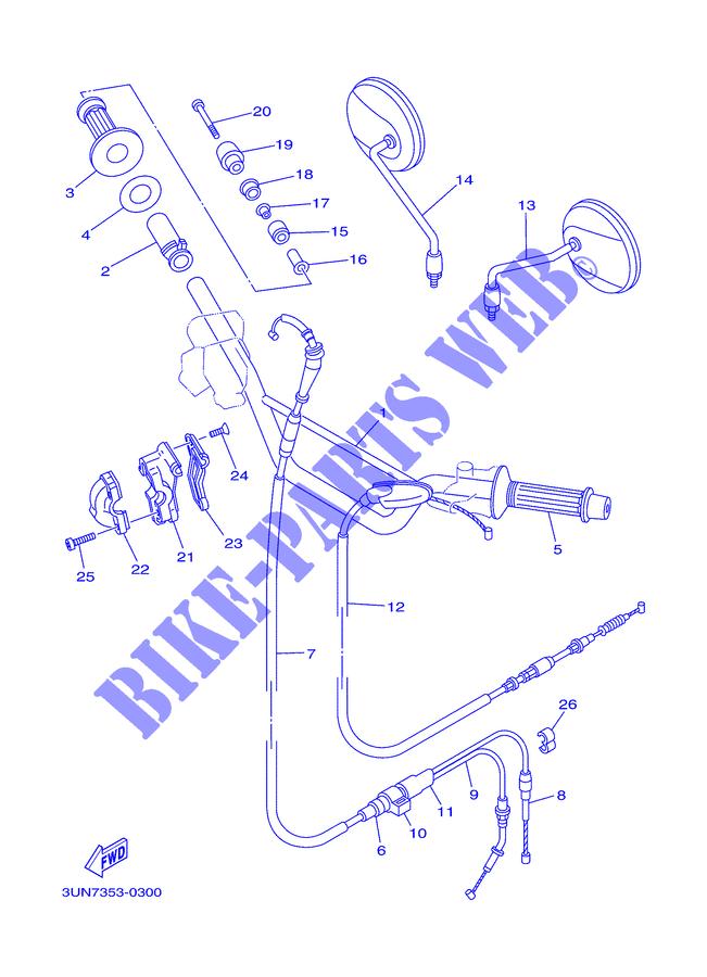 Yamaha 434262430000 Throttle Guide Tube