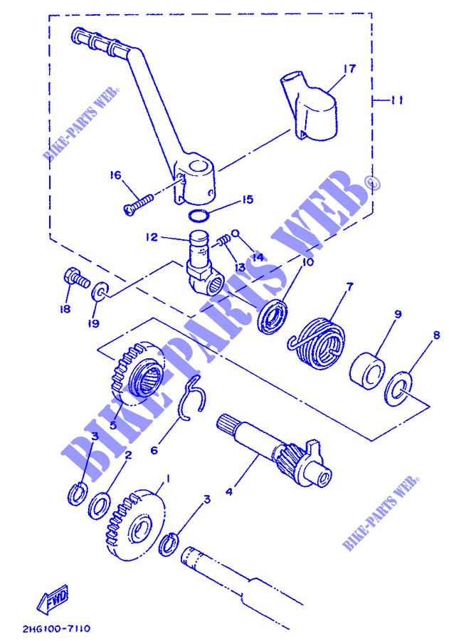 yamaha moto 125 1988 yz yz125 yz125 starter motor