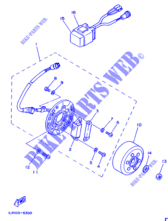 Yamaha Moto 80 1988 Yz Yz80 Ignition: Yz80 Engine Diagram At Jornalmilenio.com